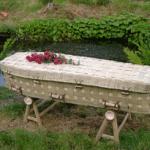 Bamboo woven coffin