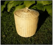 Woven bamboo urn - Laurel