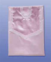 Satin pink funeral gown
