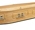 Solid oak coffin with double mouldings