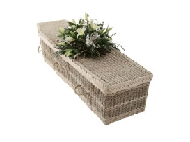 Sea grass coffin