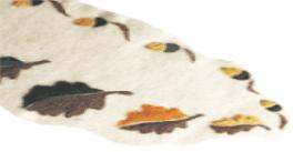 Felted shroud with oak leaf design