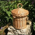 Woven willow urn - Bluebell