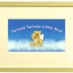 Framed memorial bear on clouds photo