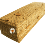 Woven casket for burial
