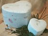Flowered heart light urn