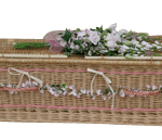 Locally woven willow with pink banding