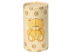 Small Urn Yellow bear ashes tube