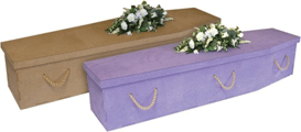 Newspaper coffins