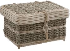 Rectangular woven seagrass & cane