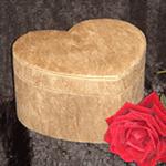 Woodgrain design, heart shaped urn