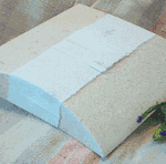 Handmade paper pouch in Natural colour