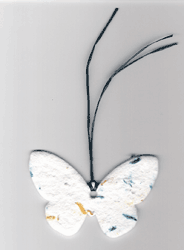 Butterfly with forget-me-not seeds memorial gift