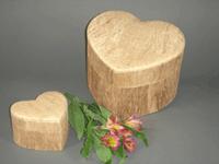 Small Urn - Woodgrain heart (2 sizes)