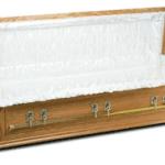 Oak casket coffin