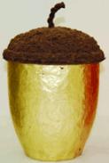 Gold acorn urn