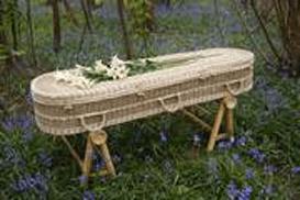 Plant fibre woven coffin
