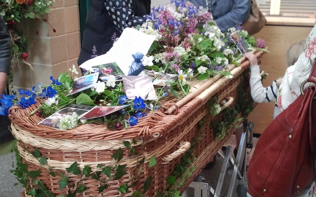 The right flowers for a funeral.